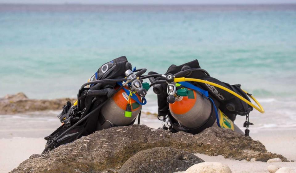Complete scuba dive set